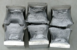 Broken charpy impact specimens