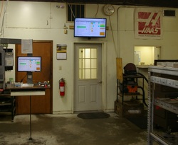 Big Screen job tracker in machine shop